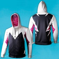 TV & Movie Costumes spider coats women - Spider Man Spider Woman Gwen Stacy Superhero Unisex Cosplay Polyester Zip up Hoodie Coat