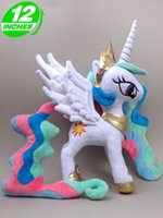 Wholesale Dolls Little Pony - 25*35cm my little pony Plush Kawaii Doll Child Baby Kids Toys Stuffed Animals Horse - - Princess Celestia