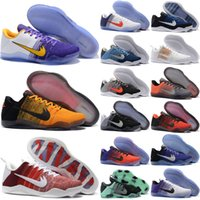 Wholesale Summer Tops Usa - 2017 top quality Kobe 11 Elite Men Basketball Shoes White Multicolor Red Horse USA Bruce Lee Eulogy KB 11 Trainer Sneakers US 8-12