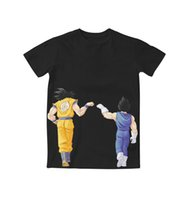 Wholesale Real Dragons - 2 Styles Real USA Size Dragon Ball Z Custom made 3D Sublimation print T-Shirt Plus size