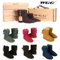 Wholesale Girl Knee High Boots Snow - 2017 High Quality WGG Women's Australia Classic tall Boots Women girl boots Boot Snow Winter boots leather shoes US SIZE 5--10