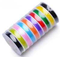 Wholesale Strong Strings - Mixed Color (20Roll) Strong Stretch Elastic Beading String Cord Wire 0.6 0.8 1mm