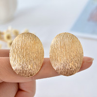 Wholesale Red Resin Cuff - New ear clip exaggerated fashion cute ellipse line earrings ear clip women jewelry festival party present