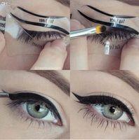 Wholesale eyeliner template makeup tools online - Sets Beauty Cat Eyeliner Models Smokey Eye Stencil Template Shaper Eyeliner Makeup Tool