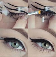 eye-liner maquillage yeux de chat achat en gros de-Livraison Gratuite 110 Pcs 1 Ensembles Beauté Cat Eyeliner Modèles Smokey Eye Gabarit Modèle Shaper Eyeliner Outil De Maquillage