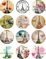 Wholesale Paris Music - Free shipping PARIS glass Snap button Jewelry Charm Popper for Snap Jewelry good quality 12pcs   lot Gl318 Jewelry making DIY