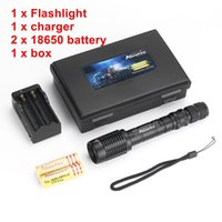 Wholesale High Power Waterproof Work Light - Alonefire H210 CREE XM-L T6 LED High power Tactical Waterproof Zoomable LED Flashlight Torch light With+2x18650 Battery Charger