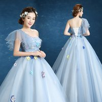 Free ship 100%real single ruffled sleeve flowers beading fancy fancy ball gown fairy Medieval Gown Victorian dress Ball stage performance  sc 1 st  DHgate.com & Medieval Fairy Costumes Canada | Best Selling Medieval Fairy ...