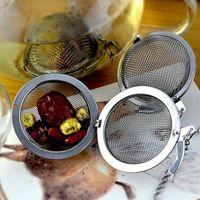 esferas de malha metálica venda por atacado-Infusor de chá de Aço Inoxidável 4.5 cm / 5.5 cm / 7 cm / 9 cm Chá Pot Infusers Sphere Malha Tea Coador Bola