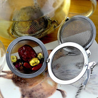 Wholesale Steel Mesh Tea Ball - Stainless Steel tea infuser 4.5cm   5.5cm   7cm  9cm Tea Pot Infusers Sphere Mesh Tea Strainer Ball