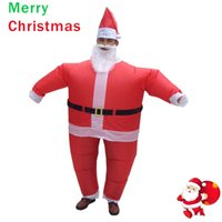Wholesale Santa Claus Suits For Women - Inflatable Christmas Costume Santa Claus Fancy Dress for Men Women Adult Suit Airblown Cosplay Party Bar Play Outfits