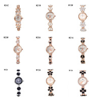 Wholesale Heart Shocking - Hot sale Quartz Wrist watches the anti-fatigue watches 6 pieces a lot mix color,fashion flower heart women watch power reserve watch GTWH2