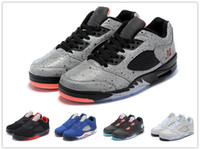 Wholesale China Rubber Shoes - air retro 5 low fire red dunk from above neymar China White Silver Alternate 90 Royal 2016 man Basketball Shoes Good Quality US8-13