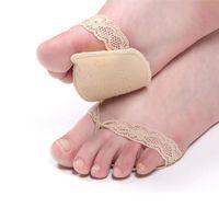 Wholesale Folder Cottons - Wholesale-Pad Foot Skid Pad Invisible Socks Toe Socks Folder A05 Sponge Pads Protect Invisible Half Yards Mat