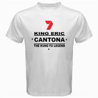 Wholesale Legends Tshirt - King Eric Cantona the legend kung fu style Tshirt White