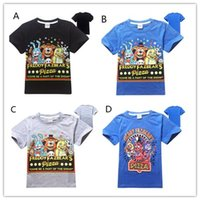 Wholesale Nice Baby Clothing - 2016 Baby Kids Clothing Boys T-shirts Short Sleeved Five Night At Freedy's Cotton Tees High Quality Children Tops Casual T Shirts Nice 9370