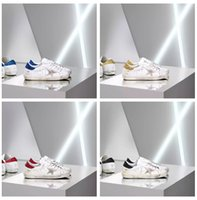 Wholesale Italy Designer Shoes - 2018 Italy Deluxe Brand GGDB Shoes Superstar Shiny Shoe Unisex Cheap Sneaker Woman Man Casual Fashion Designer Dirty Style Size EUR35-46