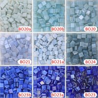 200g / 270 pcs 10 X 10mm 3/8 inch Opacity Blue Ice Jade Mosaic minúsculo, DIY Material Supplier, Mini Loose Ice Jade Glass Pieces