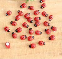 Wholesale Diy Miniature - 10x Miniature Ladybird Ladybug Garden Ornament Figurine Fairy Dollhouse DIY