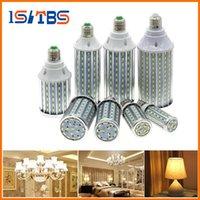 Wholesale High Power E27 21w - E27 LED Corn Bulb High Power 7W 12W 15W 18W 21W 23W 26W 35W Aluminum PCB AC85-265V 5730 Corn Lamp Light