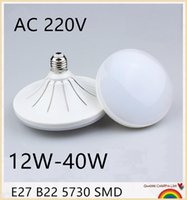 30PCS E27 5730SMD 12W 15W 18W 20W 24W 30W 36W 40W Lumineux Led Lampada AC 220V Cool White chaud Globe Lampe Bombillas Led