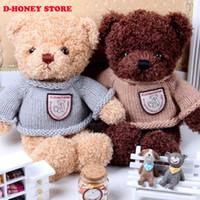 Wholesale Plush Couple Doll - 30CM Kawaii Teddy Bears Plush Toy Stuffed Couple Bears Soft Kids Toys Baby Huggable Doll Children Girls Gifts soft toys