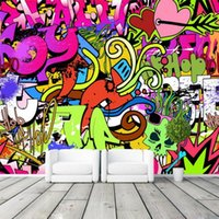 Graffiti Meninos Urban Art Photo Wallpaper Personalizado Mural Cultura de Rua Wallpaper Grande Wall Art Quarto Corredor Kid Room Decor