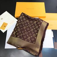 gold unendlichkeit designs großhandel-Top qualtiy Winter Schal Frauen Gold draht schals Große Größe 140 * 140 cm Schals design Unendlichkeit Schal Frauen Pashmina
