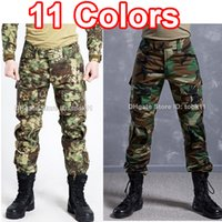 Wholesale Tactical Pants Acu - Army military clothing multicam camo combat tactical pants hunting clothes camouflage fatigues german acu kryptek mandrake paintball pants