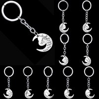 Wholesale Heart Key Ring Chain - 2016 All Family key ring moon heart alloy key chain mother key ring Father's Day best gift