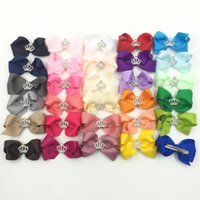 Wholesale Girls Hair Accesories - Fashion Diamonds Crowns Bowknot Kids Hairclips Princess Baby Girls Hair Pins Bow Children Hair Accesories Head Bows