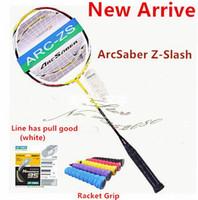 Wholesale nano balls - ARC Z-S badminton racquet Nano ArcSaber Z Slash Badminton Rackets Strung string 23 lbs badminton racquets 1pcs