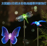 solar led luces liblulas mariposas colibres patio csped lmpara exterior enchufe candelabros