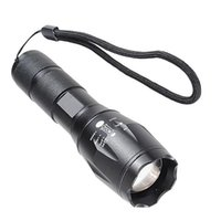 Wholesale Waterproof LED Flashlight Torches E17 CREE XM T63800LM tactical LED Torch Zoom LED Light For xAAA or x Battery Chargeable