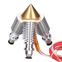 multi 3d оптовых-Латунный Штрангпресс Диаманта Reprap Hotend 3D V6 heatsink 3 в 1 вне Multi набор принтера Штрангпресса 3D сопла для 1.75 / 0.4 mm