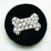 Wholesale Dog Buttons - Wholesale-MN5071 Dog Snap Button Jewelry Hot Sale Metal Snaps For Bracelet M801