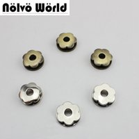 Wholesale Eyelet Bronze - 17mm quincuncial shape 100% Copper grommet bronze metal 5mm round hole screws eyelets for fashion bracelets belts bags strap