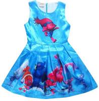 Wholesale Lemon Fancy Dress - 2017 summer teenage kids dresses Trolls magic fancy dress party cosplay costume girls princess dress clothes vestido