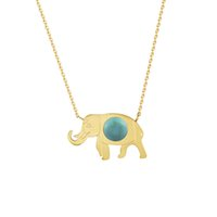 Wholesale Turquoise Silver Elephant Pendant - Wholesale 10Pcs lot 2017 Hot Sale Stainless Steel Jewelry Pendant Cute Elephant Luxury Turquoise Gold Chains Choker Necklaces For Women