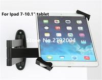 "Wholesale Tablet Security Display Stand - Wholesale- Metal Ipad security stand case flexible tablet wall desk mount tablet display holder lock enclosure with keys for 7-10"" tablet"