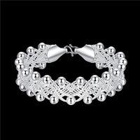 Wholesale 925 Bracelet Weaving - Hot sale christmas gift 925 silver Woven Bracelet DFMCH402, Brand new fashion 925 sterling silver Chain link bracelets high grade