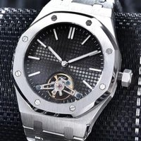 Wholesale Royal Brown Watches - 5 colors luxury brand waterproof royal oaks flywheel siliver watches men 2 pointer automatic mechanical aaa watch AAA replicas wristwatches