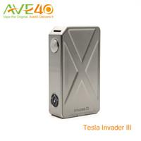 cigarros mods vv vw venda por atacado-Invasor de Tesla III 240 W VV VW E Cigarro Vapor Mod VS IPV5 Box Mod Lobo Da Neve Mini 90 w 100% Original