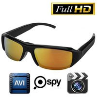 Wholesale Glass Hd Cam - HD 720P Glasses Spy Hidden Sports Camera DVR Video Recorder Eyewear DV Cam Mini Sunglasses Camera Portable Camcorder Security Camera