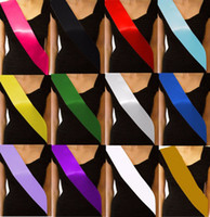 Wholesale 10 Colors Plain Blank Sash Hen Party Birthday Baby Shower Party DIY Decor Retirement Sash