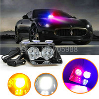 Wholesale Red White Strobe Lights - 8 LED Strobe Flash light, Car Warning Police Light , Flashing Firemen Fog lamp