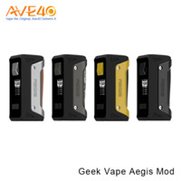 Wholesale Support For Batteries - Authentic Geekvape Aegis 100W TC Box Mod Waterproof Shockproof Dust-proof Supports Fit for 18650 Or 26650 Battery VS Captain PD270 CAPO 100W