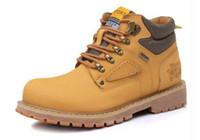 Wholesale England Shoes For Men - Super Warm Men's Winter Leather Men Waterproof Rubber Snow Boots Leisure Boots England Retro Shoes For Men Big Size