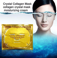 Wholesale Wholesale Gold Masks - 24K Gold Powder Bio Collagen Crystal Facial Mask Women Face Anti Aging Anti Wrinkle Anti-aging Bio-Collagen Moisturizing Masks Drop Shipping
