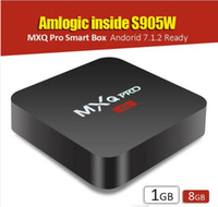 Wholesale Mini Tv Android - 2017 Hottest Selling MXQ PRO Android 7.1 Amlogic S905W 1GB 8GB KD 17.6 Fully Loaded V88 X96 MINI TV BOX